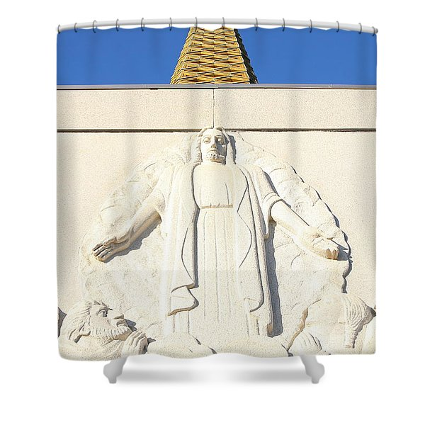 Oakland California Temple . The Church Of Jesus Christ Of Latter-day Saints . 7d11350 Shower Curtain by Wingsdomain Art and Photography