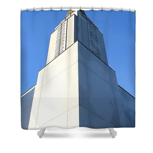 Oakland California Temple . The Church Of Jesus Christ Of Latter-day Saints . 7d11353 Shower Curtain by Wingsdomain Art and Photography