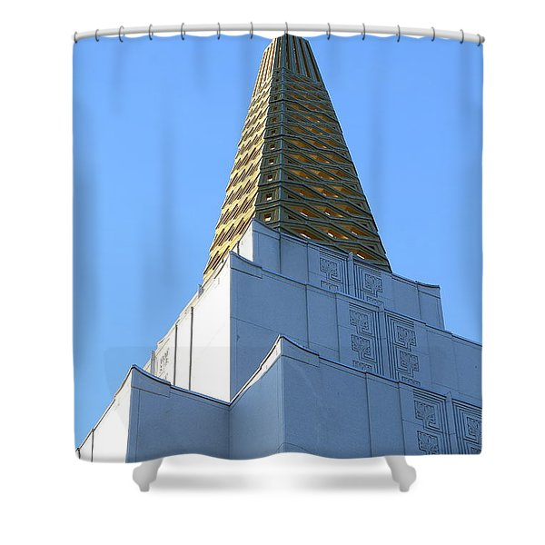 Oakland California Temple . The Church Of Jesus Christ Of Latter-day Saints . 7d11358 Shower Curtain by Wingsdomain Art and Photography