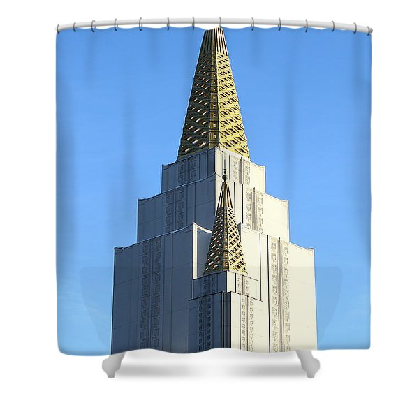 Oakland California Temple . The Church of Jesus Christ of Latter-Day Saints . 7D11381 Shower Curtain by Wingsdomain Art and Photography