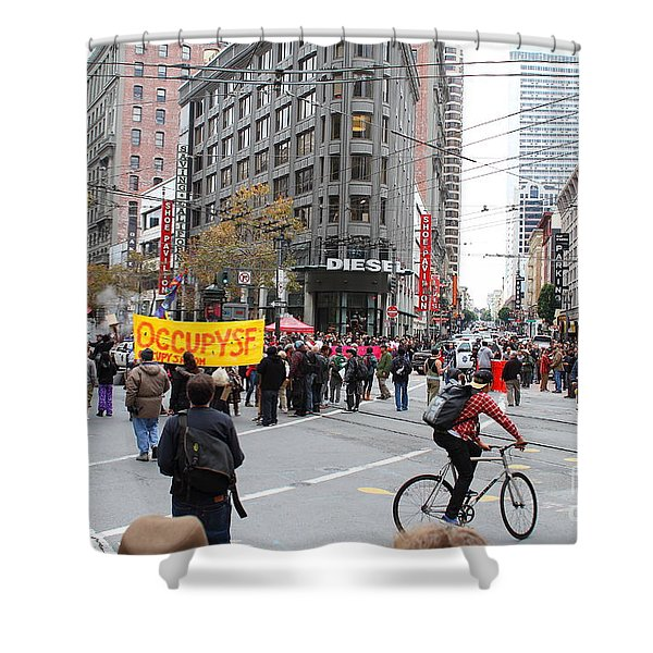 Occupy Sf . 7d9733 Shower Curtain by Wingsdomain Art and Photography