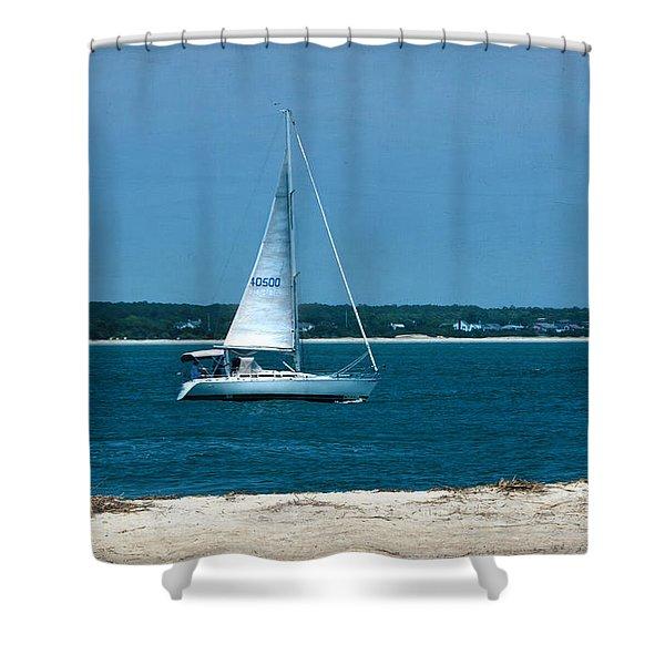 Ocean Bound Shower Curtain by Sandi OReilly