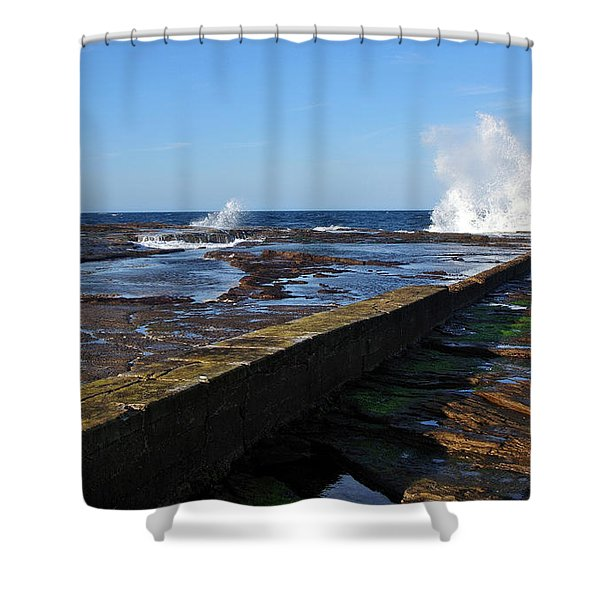 Ocean View Shower Curtain by Kaye Menner