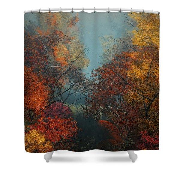 October Shower Curtain by Jutta Maria Pusl