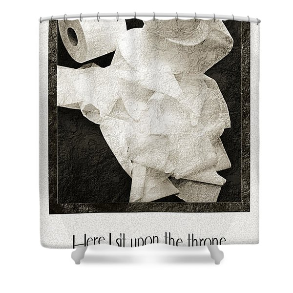 Ode To The Spare Roll Shower Curtain by Andee Design