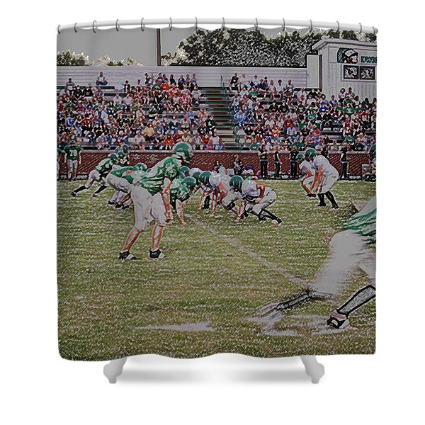 Off Sides Digital Art Shower Curtain by Thomas Woolworth