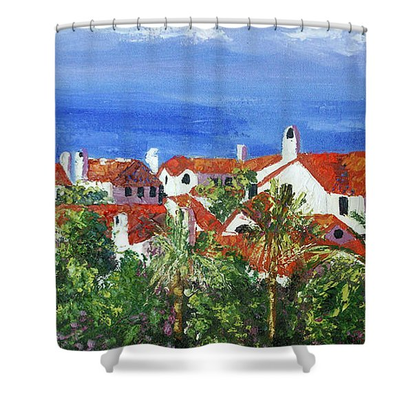Off The Coast Shower Curtain by Anthony Falbo