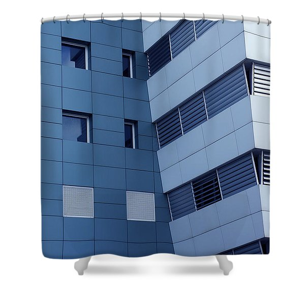 office building Shower Curtain by Carlos Caetano