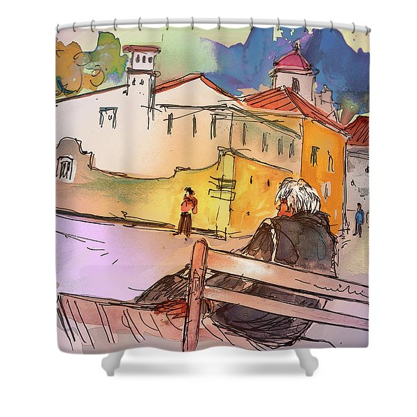 Old And Lonely In Portugal 07 Shower Curtain by Miki De Goodaboom