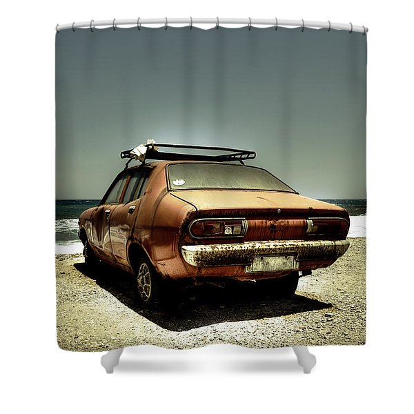 old car Shower Curtain by Joana Kruse