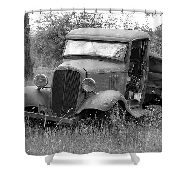 Old Chevy Truck Shower Curtain by Steve McKinzie