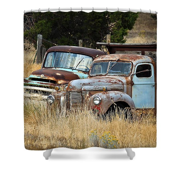 Old Farm Trucks Shower Curtain by Steve McKinzie