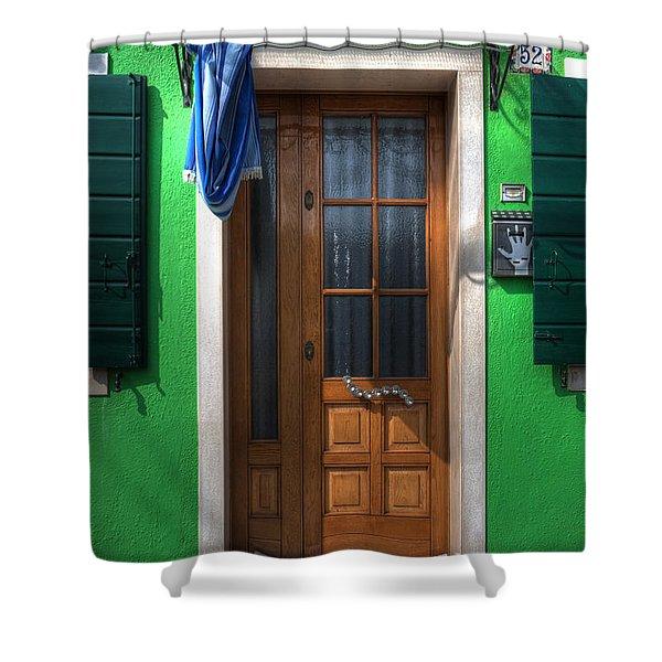 old italian door Shower Curtain by Joana Kruse