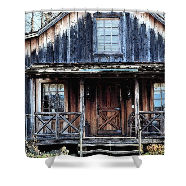 Old Log House2 Shower Curtain by Sandi OReilly