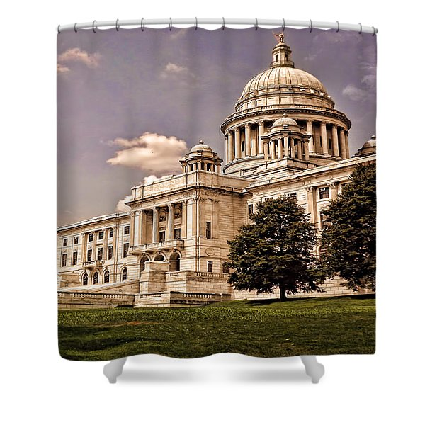 Old Rhode Island State House Shower Curtain by Lourry Legarde