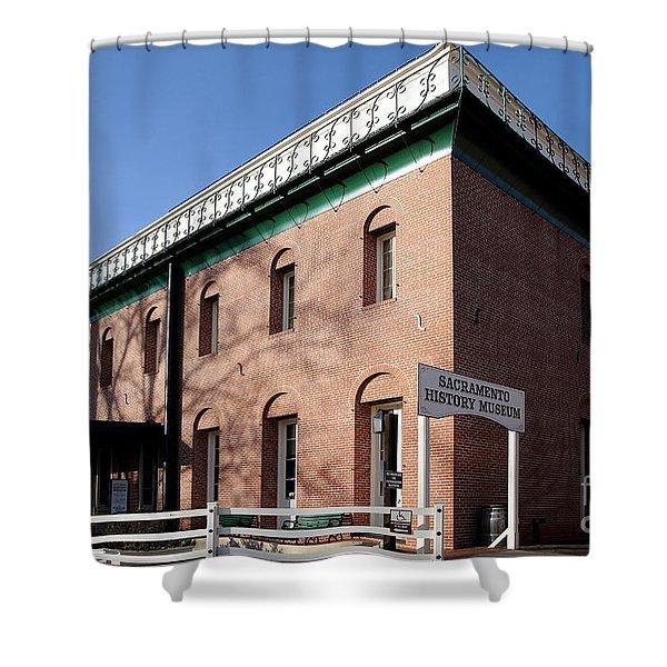 Old Sacramento California . Sacramento History Museum . 7d11700 Shower Curtain by Wingsdomain Art and Photography