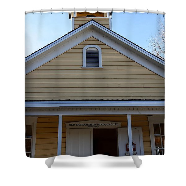 Old Sacramento California . Schoolhouse Museum . 7D11579 Shower Curtain by Wingsdomain Art and Photography