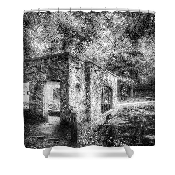 Old Spring House Shower Curtain by Scott Norris