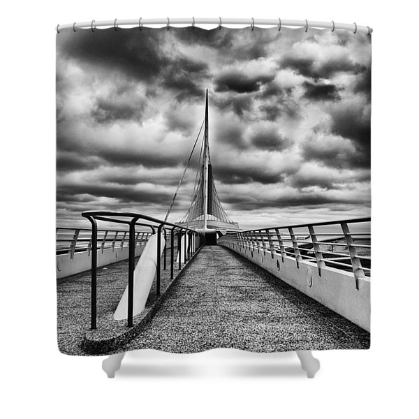 On The Lake Shower Curtain by Jack Zulli