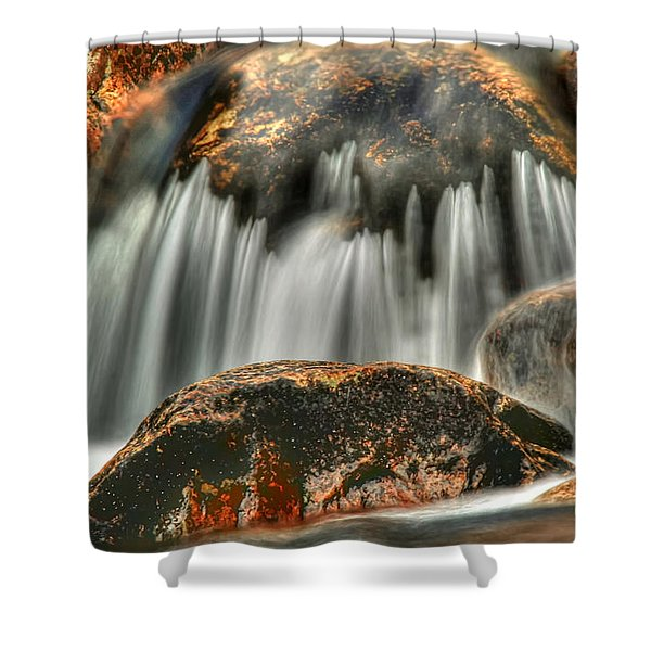 On The Rocks Shower Curtain by Darren Fisher