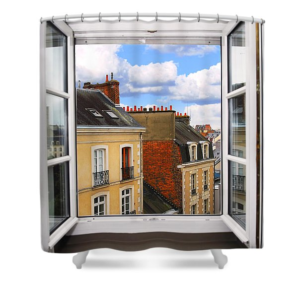 Open window Shower Curtain by Elena Elisseeva