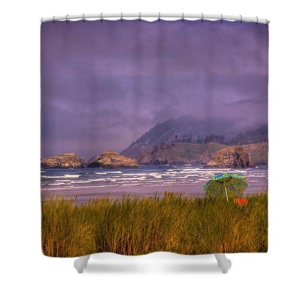Oregon Seascape Shower Curtain by David Patterson