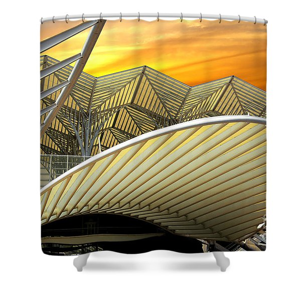 Oriente Station Shower Curtain by Carlos Caetano