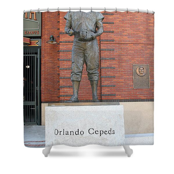 Orlando Cepeda At San Francisco Giants Att Park .7d7631 Shower Curtain by Wingsdomain Art and Photography