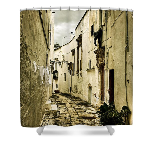 Ostuni - Apulia Shower Curtain by Joana Kruse
