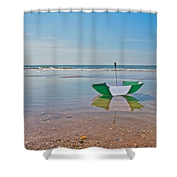 Out for a Stroll Shower Curtain by Betsy C  Knapp