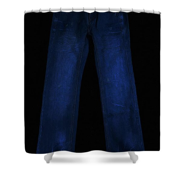 Pair Of Jeans 1 - Painterly Shower Curtain by Wingsdomain Art and Photography