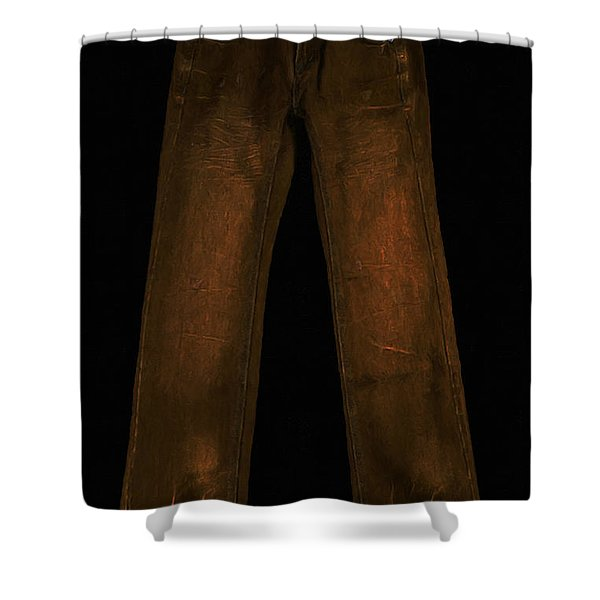 Pair of Jeans 3 - Painterly Shower Curtain by Wingsdomain Art and Photography