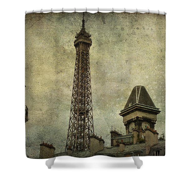 Pale Paris Shower Curtain by Nomad Art And  Design
