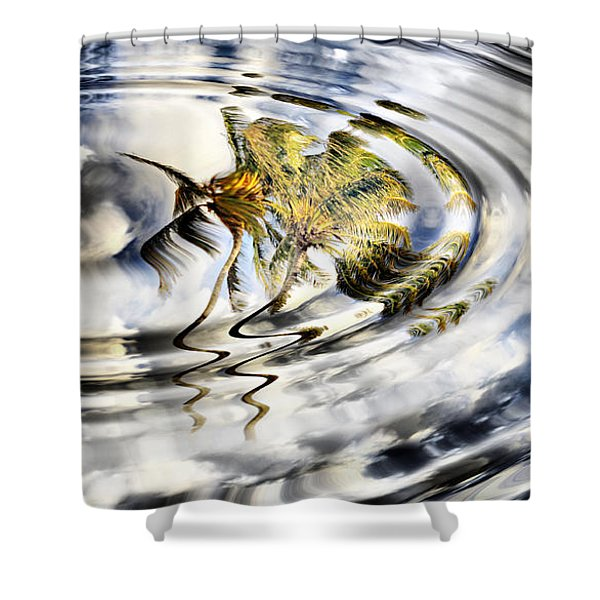 Palm Reflections Shower Curtain by Cheryl Young
