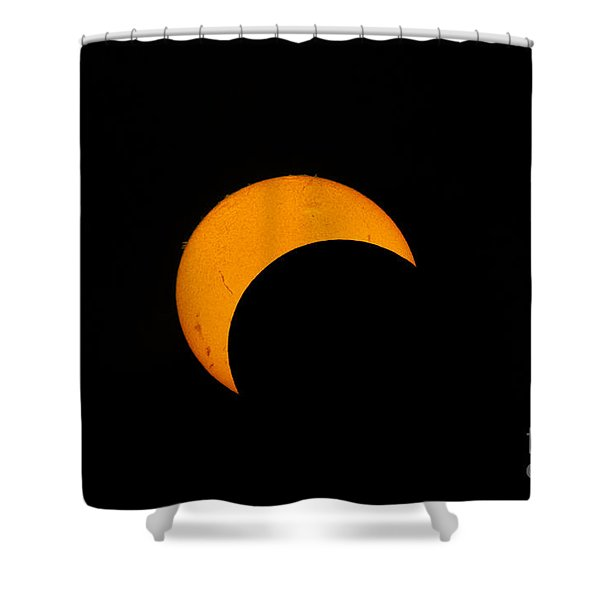 Partial Solar Eclipse Of 2012 Shower Curtain by Phillip Jones