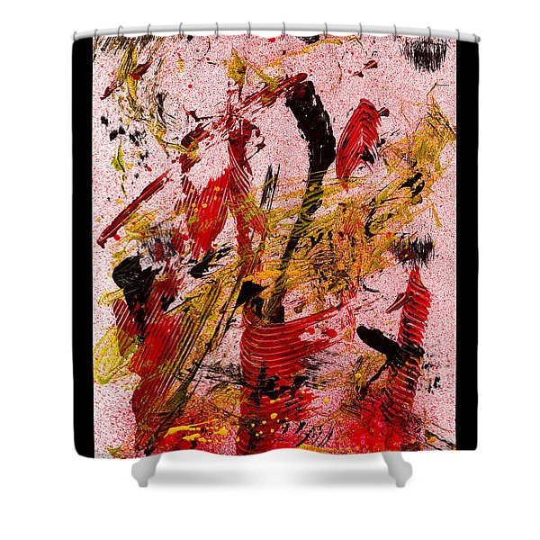 Party At The Hockey Match - White Shower Curtain by Manuel Sueess