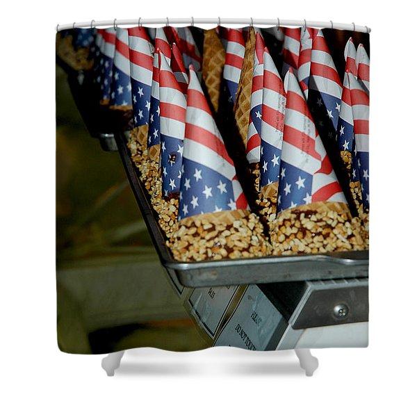 Patriotic Treats Virginia City Nevada Shower Curtain by LeeAnn McLaneGoetz McLaneGoetzStudioLLCcom