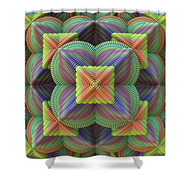 Pattern Pyramid Shower Curtain by Lyle Hatch
