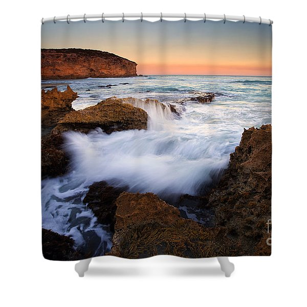 Pennington Pastel Sunset Shower Curtain by Mike  Dawson
