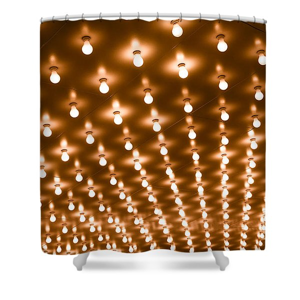 Photo of Theater Marquee Lights Shower Curtain by Paul Velgos