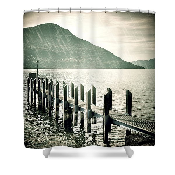 pier Shower Curtain by Joana Kruse