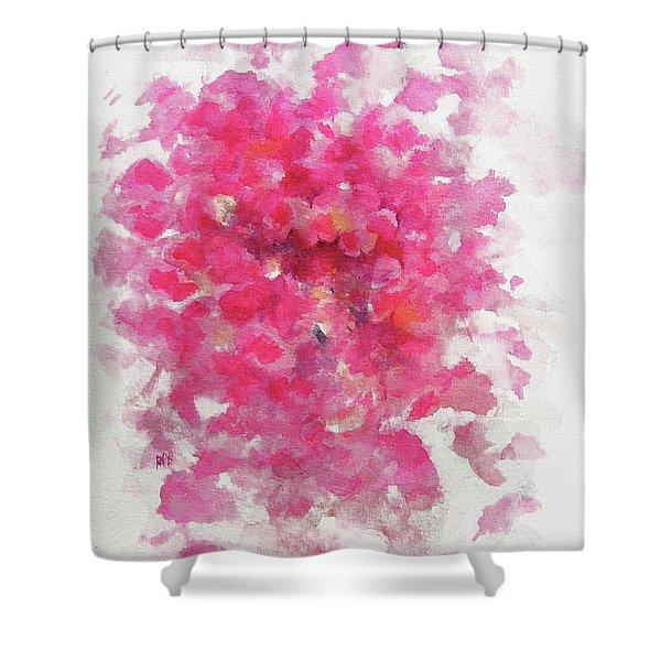 Pink Rose Shower Curtain by Rachel Christine Nowicki