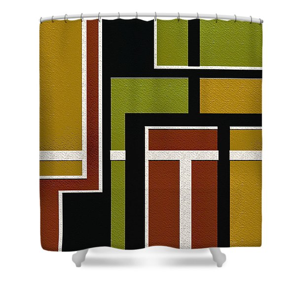 Pipeline Shower Curtain by Ely Arsha