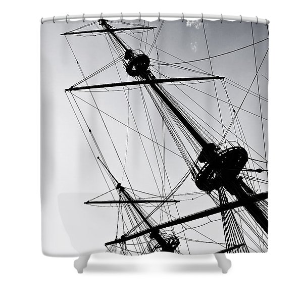 pirate ship Shower Curtain by Joana Kruse