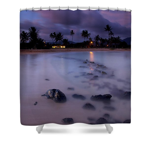 Poipu Evening Storm Shower Curtain by Mike  Dawson