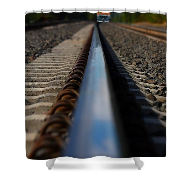 Polished Rails Shower Curtain by Patrick Witz