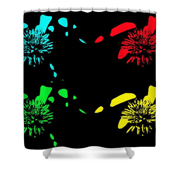 Pom Pom Pop Art Shower Curtain by Aimee L Maher Photography and Art
