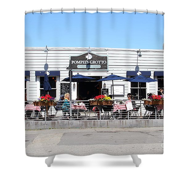 Pompeis Grotto Restaurant . Fishermans Wharf . San Francisco California . 7d14197 Shower Curtain by Wingsdomain Art and Photography