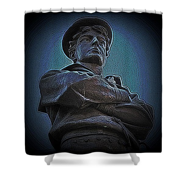 Portrait 33 American Civil War Shower Curtain by David Dehner