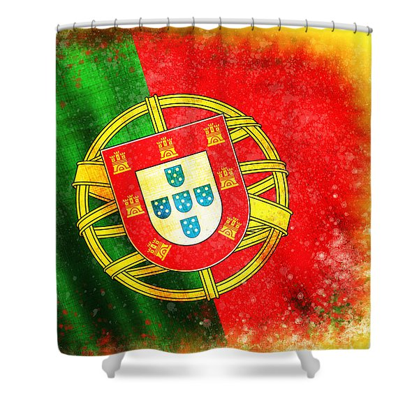 portugal flag  Shower Curtain by Setsiri Silapasuwanchai